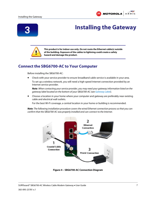 small resolution of installing the gateway connect the sbg6700 ac to your computer figure 3 sample sbg6700 ac gateway label arris sbg6700 user guide user manual page 18