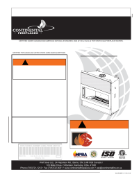 Continental Fireplaces CLHD45 User Manual | 56 pages