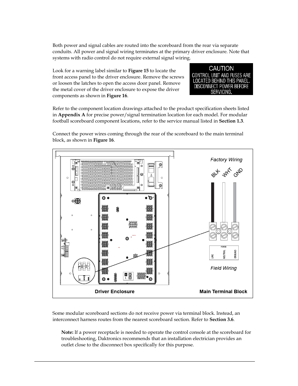 hight resolution of connection daktronics outdoor led scoreboards installation user manual page 22 58