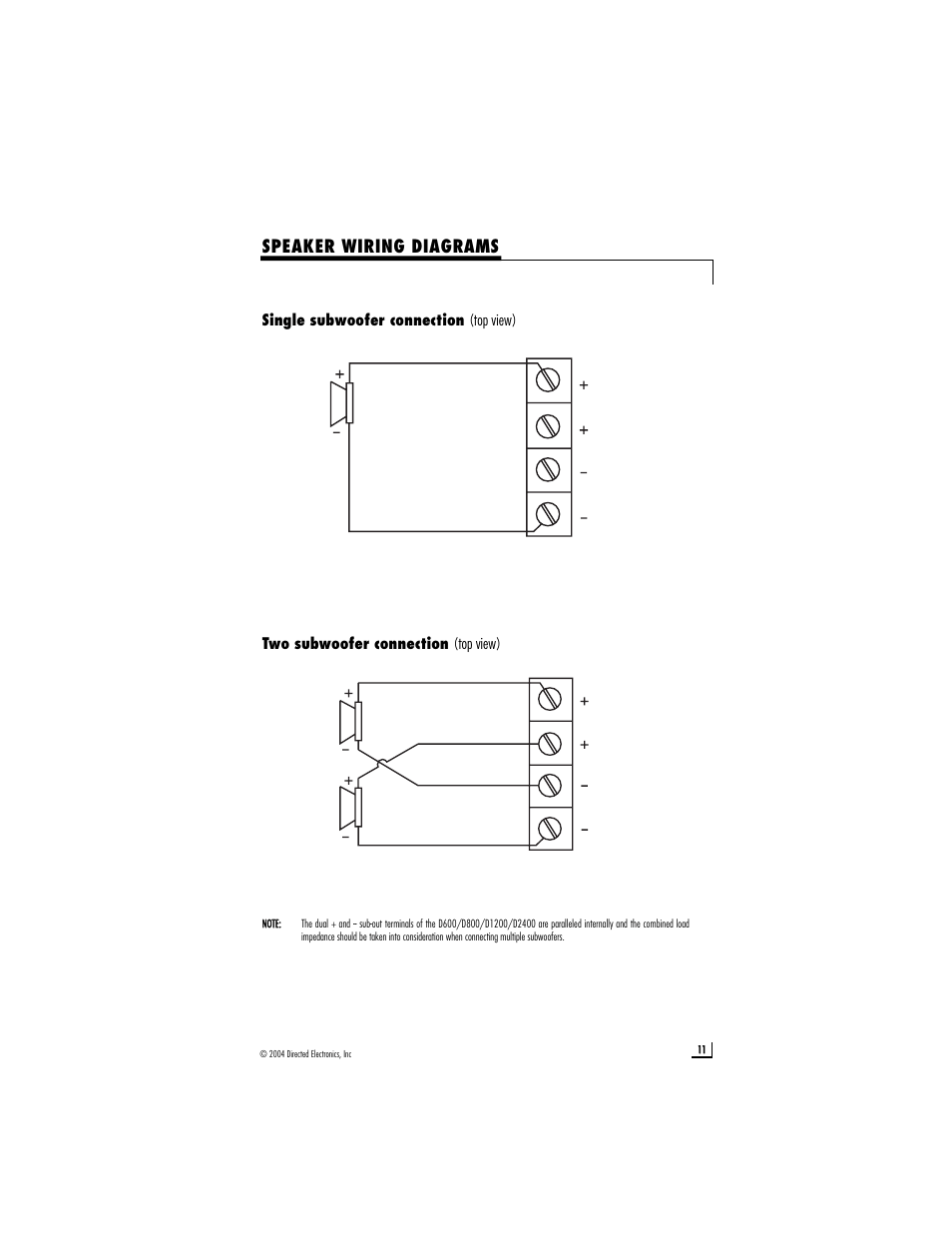 hight resolution of speaker wiring diagrams directed electronics d2400 user manual directed wiring diagrams