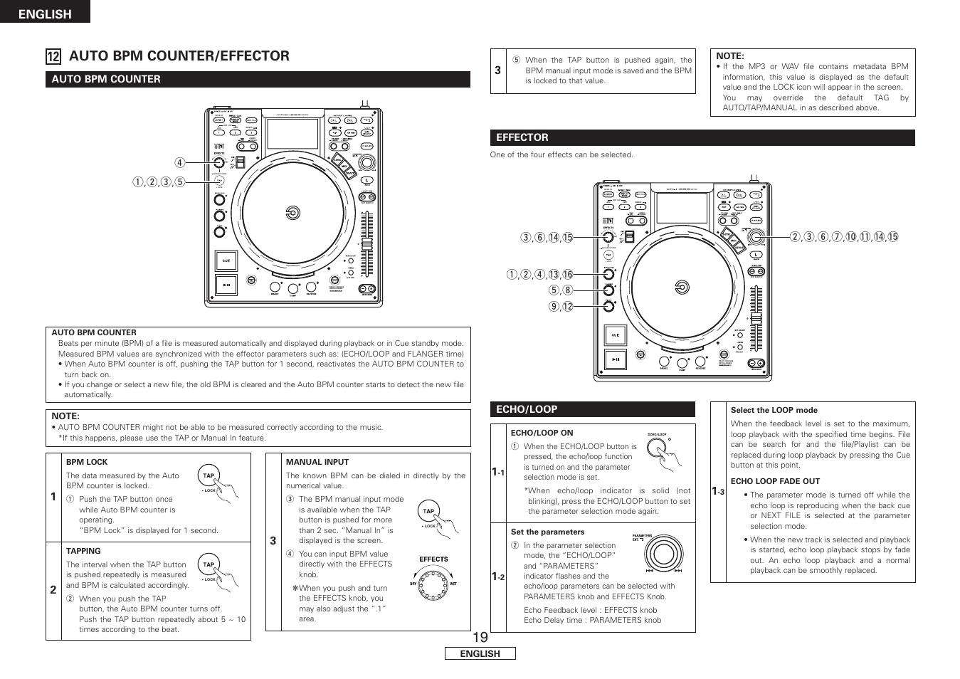 Auto bpm counter/effector, Auto bpm counter, Effector