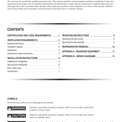 Dometic Rm2852 Wiring Diagram Jenn Air Oven Parts User Manual Page 2 16 Original Mode Also For