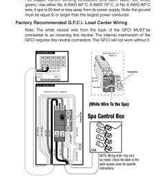 wiring diagram 7hite factory recommended g f c i load center dynasty spas wiring diagram [ 954 x 1475 Pixel ]