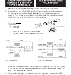 installation caution warning legrand osr300s 120 277vac user manual page 5 8 [ 954 x 1431 Pixel ]
