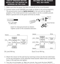 installation caution warning legrand osr300s 120 277vac user manual page 5 8 [ 954 x 1431 Pixel ]