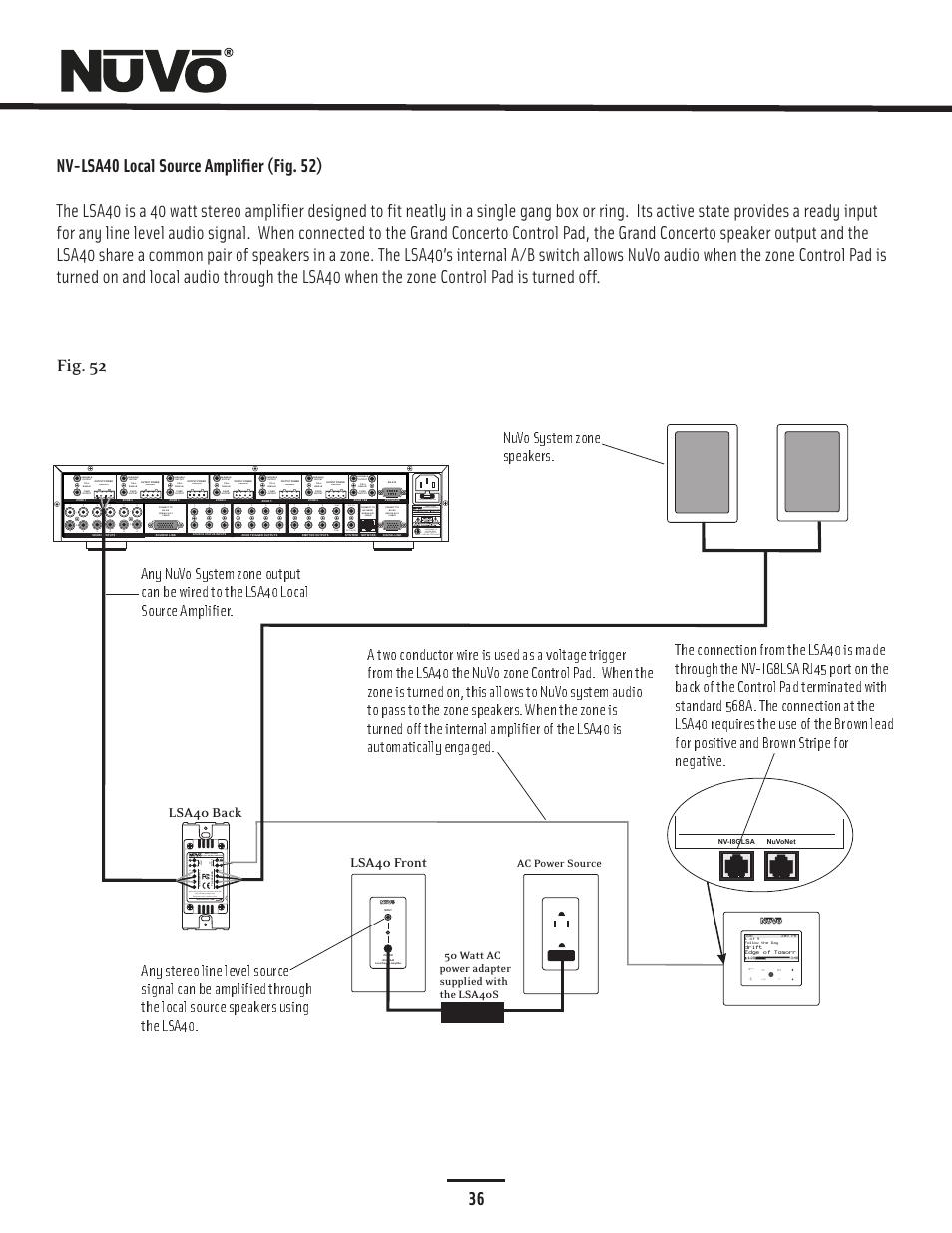 medium resolution of 36 fig 52 20w 6ohm x2 sum2 nuvo essentia nv e6gxs user manual52