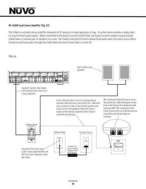small resolution of 36 fig 52 20w 6ohm x2 sum2 nuvo essentia nv e6gxs user manual52