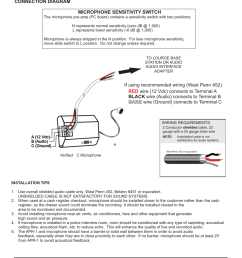 installation and operating instructions connection diagram louroe electronics le 072 user manual page 3 4 [ 954 x 1235 Pixel ]