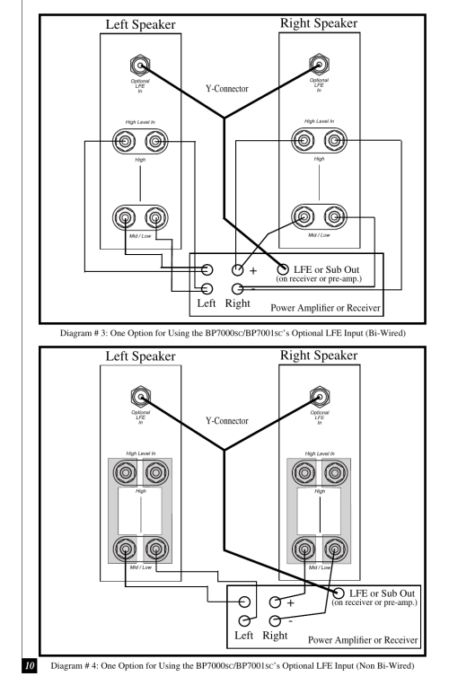 small resolution of left speaker right speaker definitive technology bp7001sc user manual page 10 15