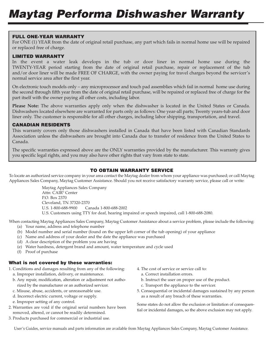 medium resolution of maytag performa dishwasher warranty maytag pdb1100awe user manual page 9 28