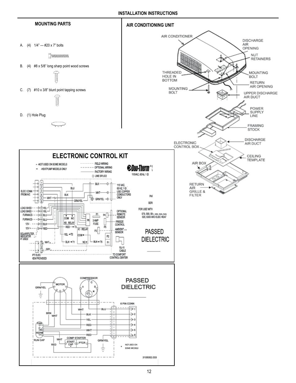 medium resolution of electronic control kit unit field wiring diagram dometic brisk air rv thermostat wiring diagram dometic brisk air wiring diagram