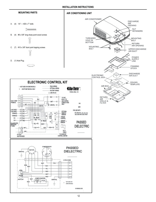 small resolution of electronic control kit unit field wiring diagram dometic brisk air 590 series user manual page 12 12