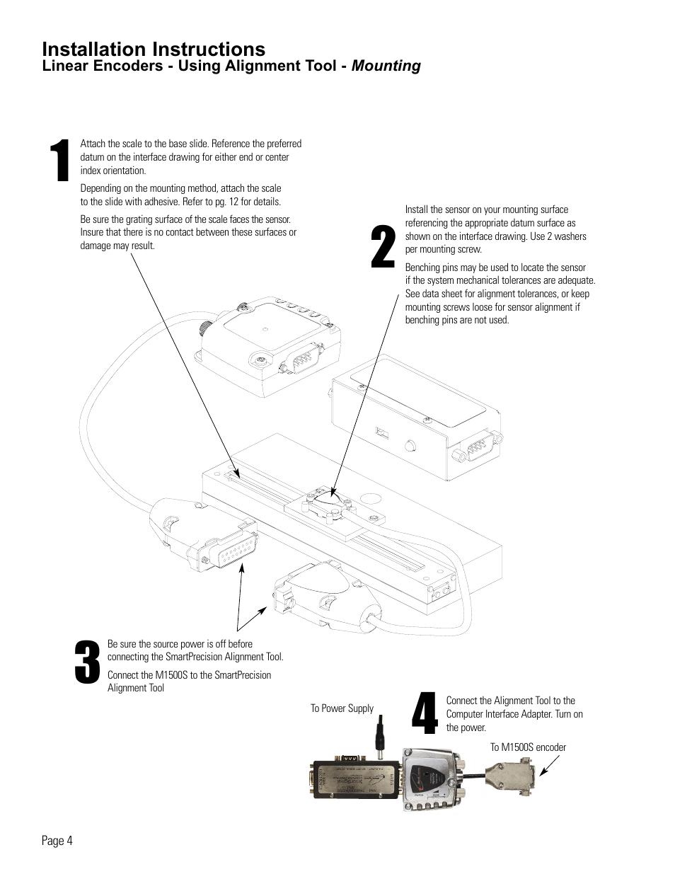 medium resolution of linear encoder installation using alignment tool microe 1500s mercury user manual page 6 19