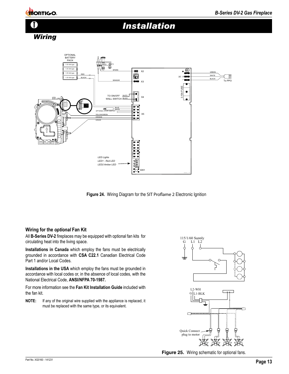 hight resolution of installation wiring page 13 b series dv 2 gas fireplace montigo b34dv user manual page 13 26