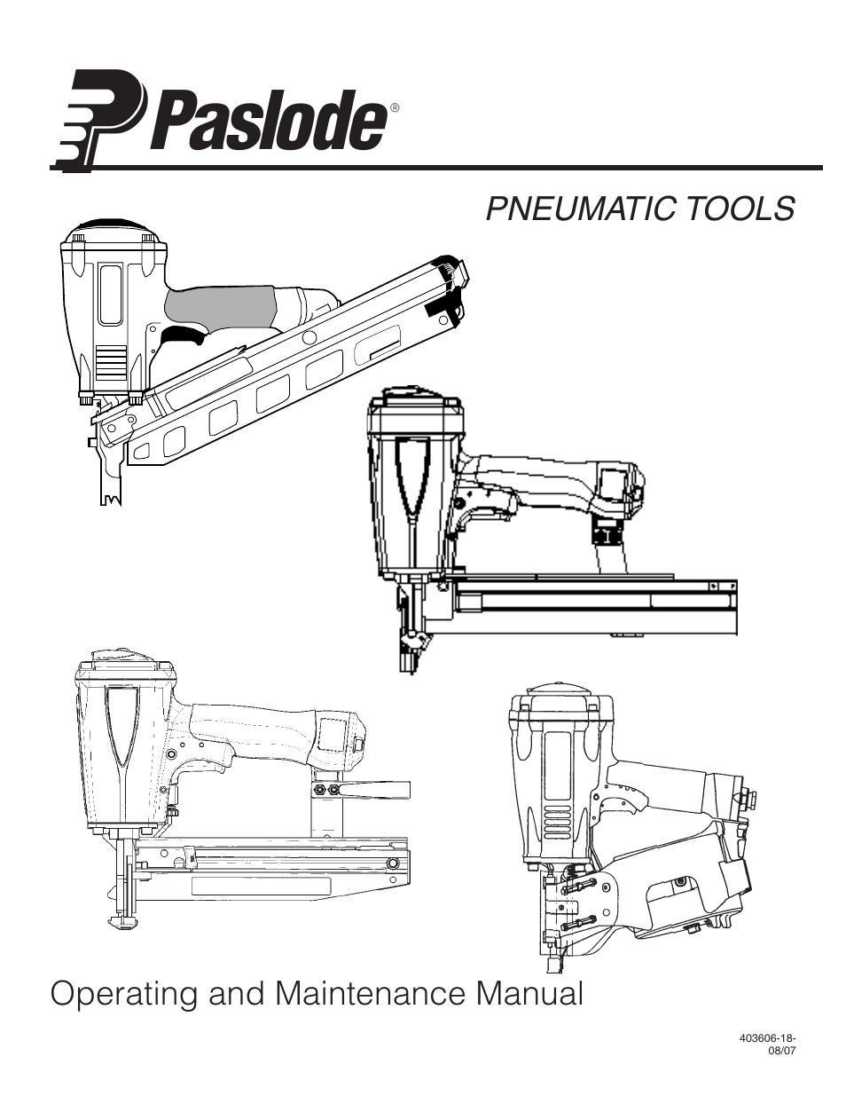 Paslode F350-S PowerMaster Plus 30 Framing Nailer User