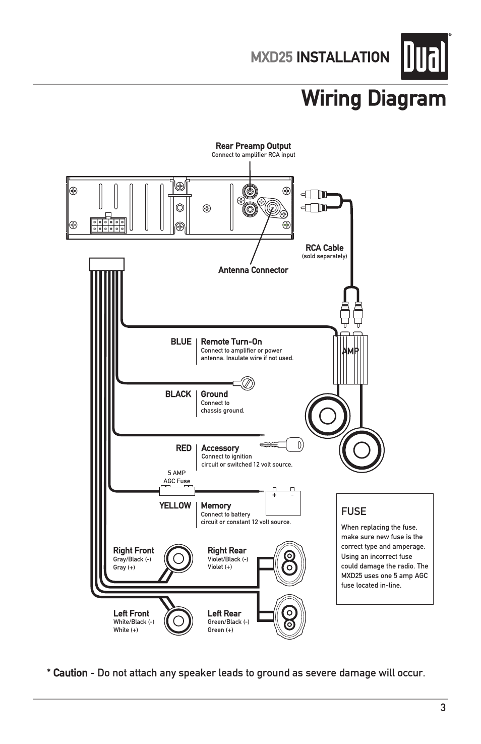 Wiring Diagram Mxd25 Installation Fuse