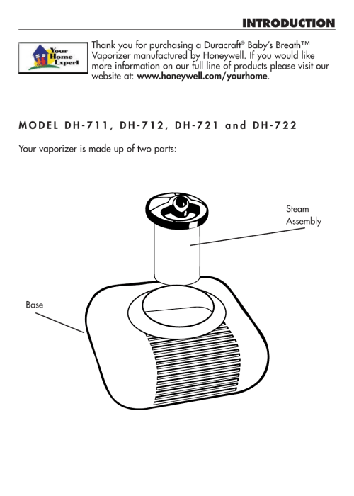 small resolution of introduction duracraft baby s breath vaporizer dh 711 user manual page 3 11