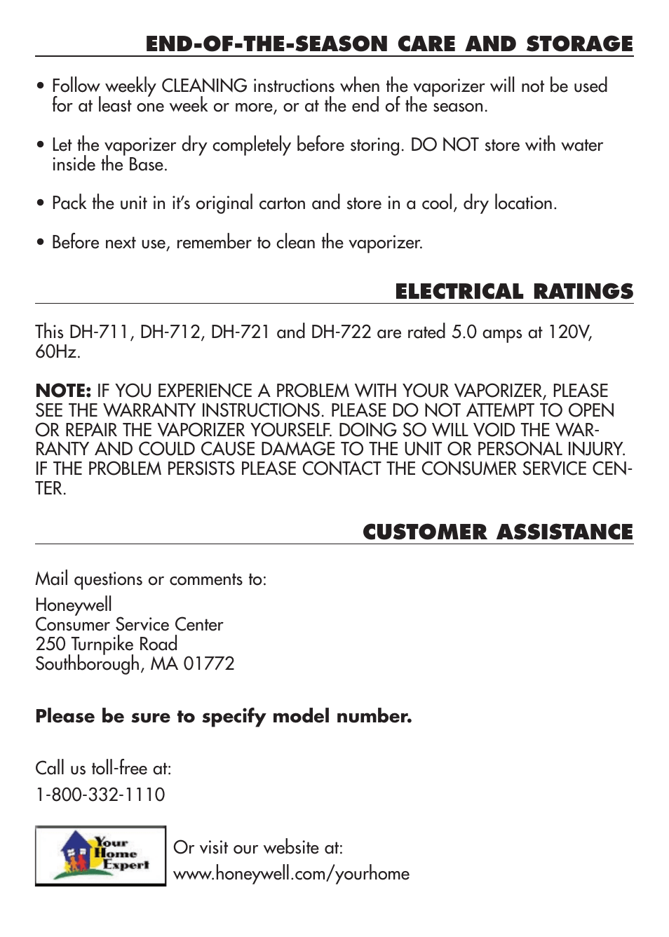 hight resolution of customer assistance duracraft baby s breath vaporizer dh 711 user manual page 8 11