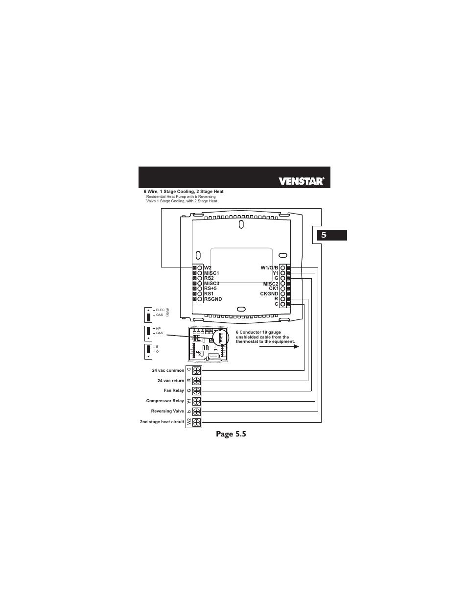 medium resolution of page 5 5 hp gas b o elec gas f a n venstar t2700 installation user manual page 16 23