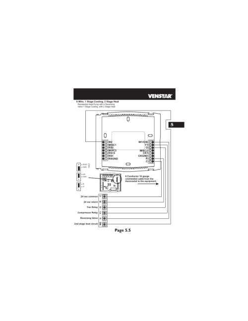 small resolution of page 5 5 hp gas b o elec gas f a n venstar t2700 installation user manual page 16 23