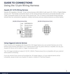 aquatic av 12 pin wiring harness using triggered external devices aquatic av harness [ 954 x 1235 Pixel ]