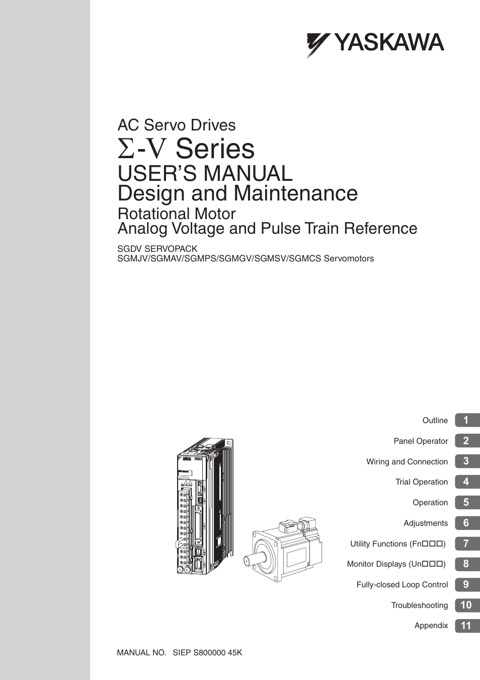 Yaskawa Sigma-5 User Manual: Design and Maintenance