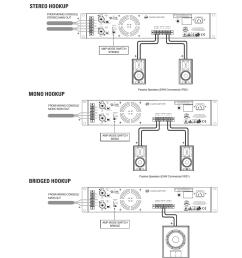 hookup diagrams stereo hookup mono hookup bridged hookup balanced eaw caz2500 user manual page 10 16 [ 954 x 1235 Pixel ]
