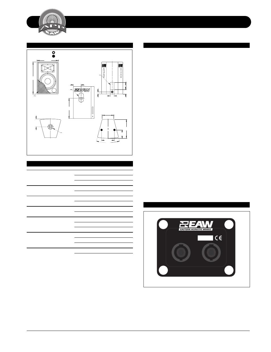 Technical specifications fr159z, Fr159z, Dimensional
