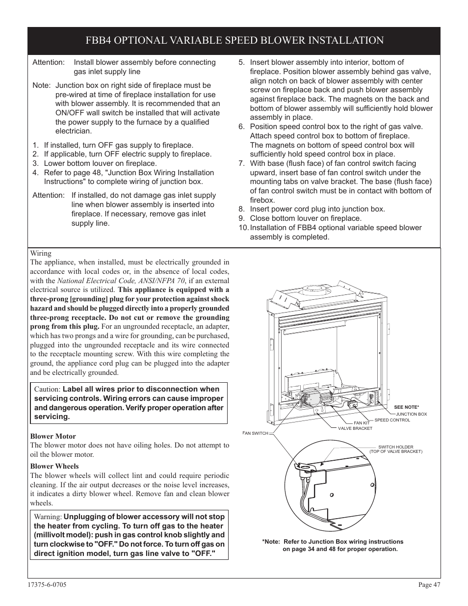 hight resolution of fbb4 optional variable speed blower installation empire comfort systems dvp42fp7 en user manual page 47 52