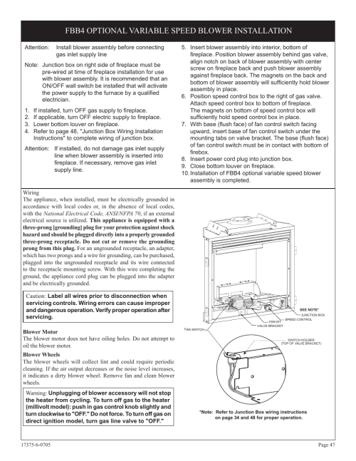small resolution of fbb4 optional variable speed blower installation empire comfort systems dvp42fp7 en user manual page 47 52