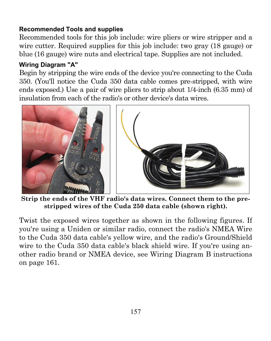 hight resolution of eagle electronics cuda 350 s map user manual page 165 180 uniden nmea cable wiring diagram
