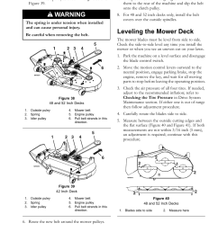 leveling the mower deck warning maintenance exmark quest 4500 450 user manual page 41 56 [ 955 x 1235 Pixel ]