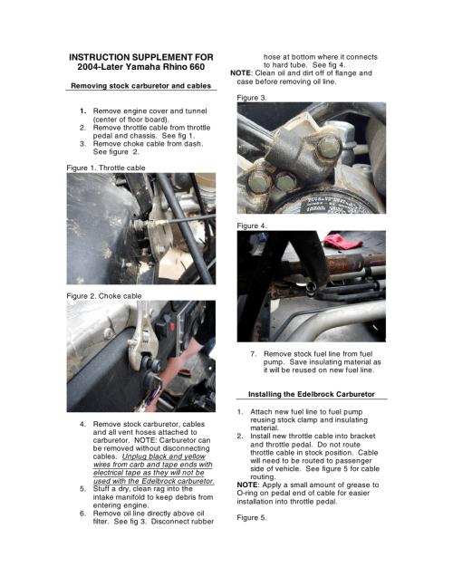 small resolution of edelbrock yamaha rhino 660 user manual