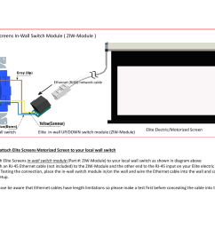 elite screens et user manual 1 page also for ziw module [ 1235 x 954 Pixel ]