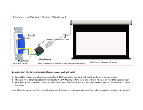 small resolution of elite screens et user manual 1 page also for ziw module