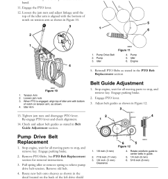 pump drive belt replacement belt guide adjustment maintenance exmark navigator 0 user manual page 31 48 [ 954 x 1235 Pixel ]