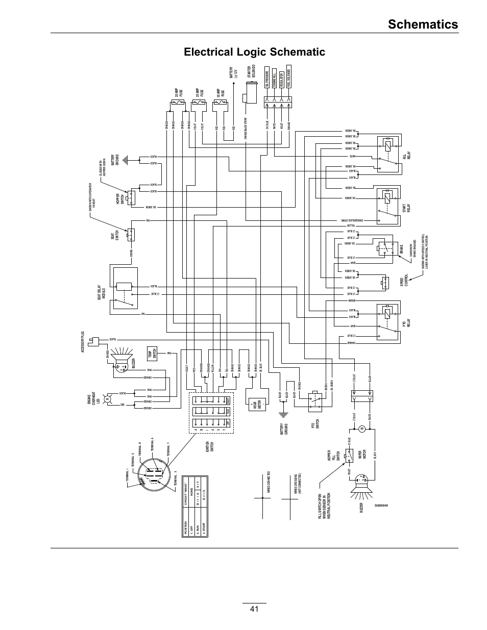 hight resolution of schematics electrical logic schematic exmark navigator 0 user manual page 41 48