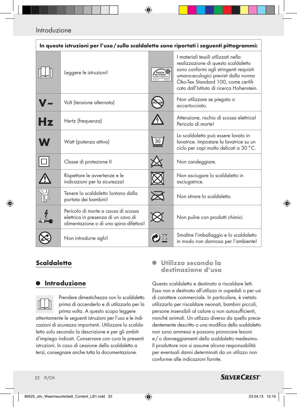 Introduzione, Scaldaletto introduzione, Utilizzo secondo