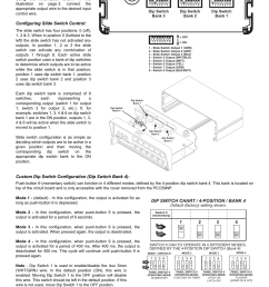 dip switch chart 4 position bank 4 pin connector output control [ 954 x 1235 Pixel ]