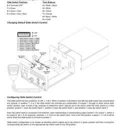 configuring the slide switch functions whelen 295hfsa5 user manual page 4 8 [ 954 x 1235 Pixel ]