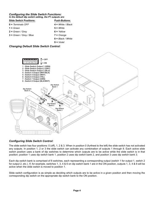 small resolution of configuring the slide switch functions whelen 295hfsa5 user manual page 4 8