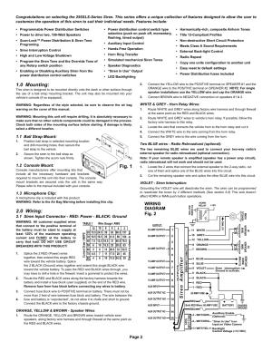 Fig 1 10 mounting, 0 wiring, Wiring diagram | Whelen