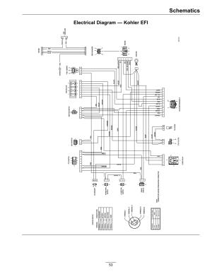 Schematics, Electrical diagram — kohler efi   Exmark Lazer Z SSeries User Manual   Page 53  60