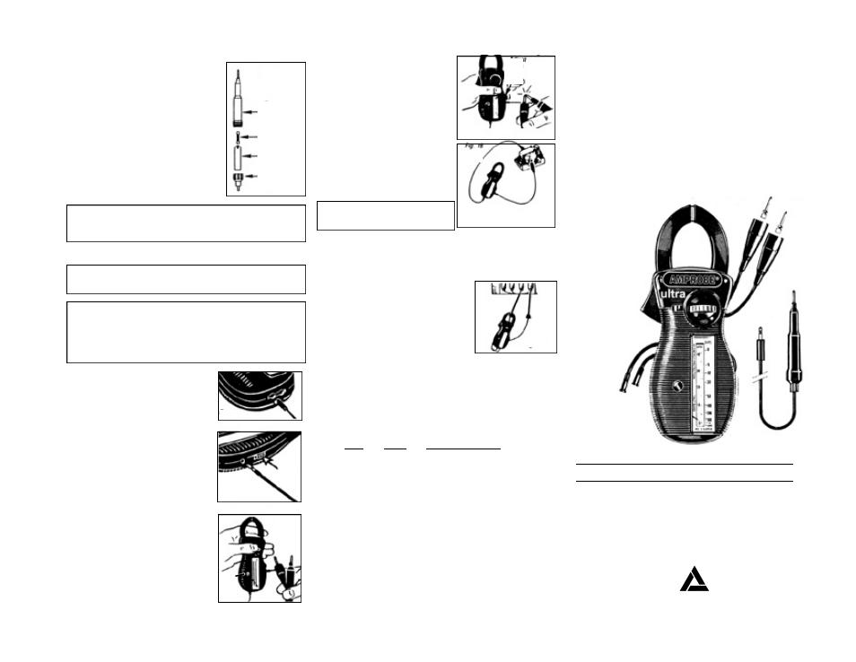 Amprobe, Modelo rs-3, Escala giratoria de abrazadera