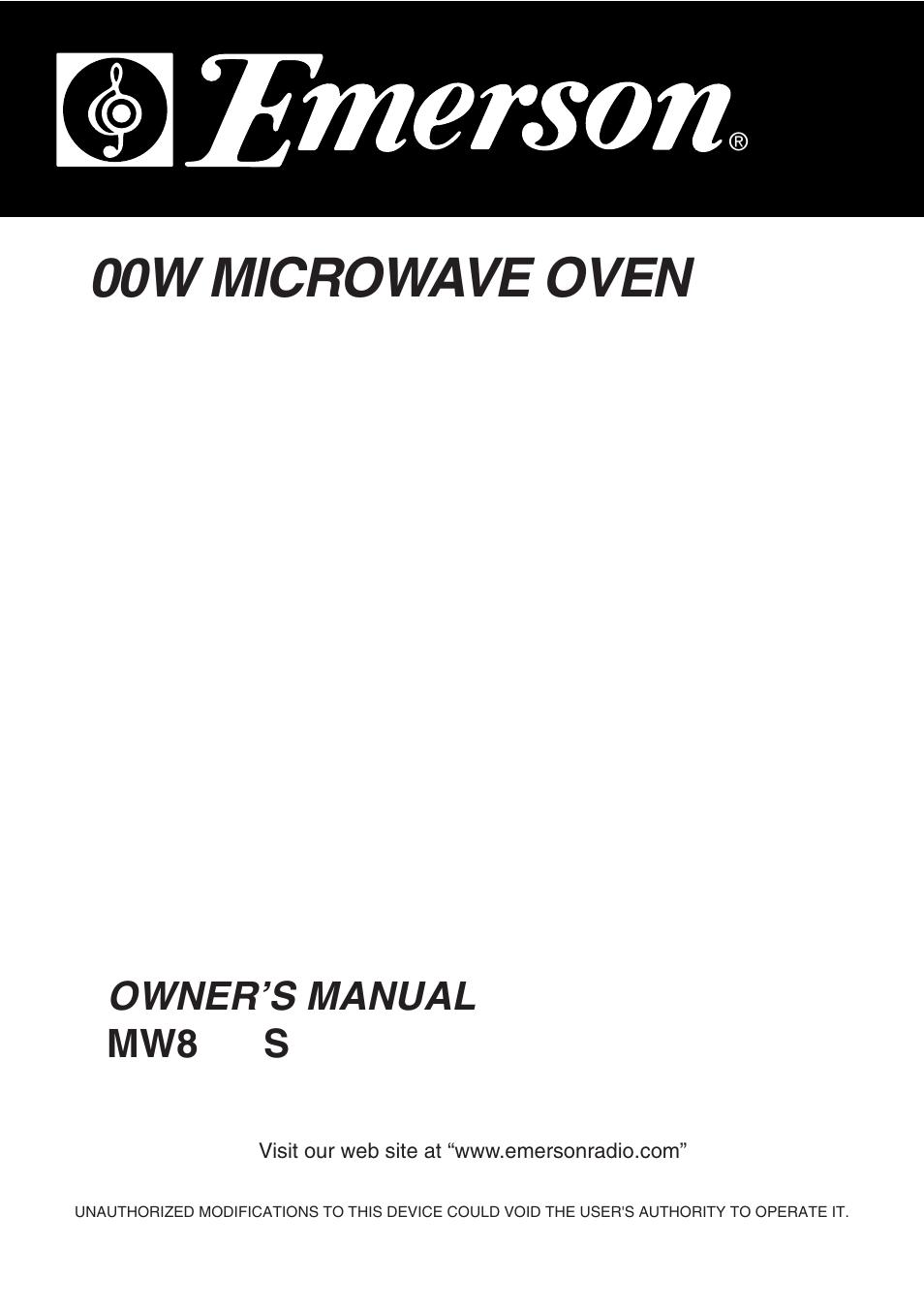 EMERSON MW8992SB MANUAL PDF