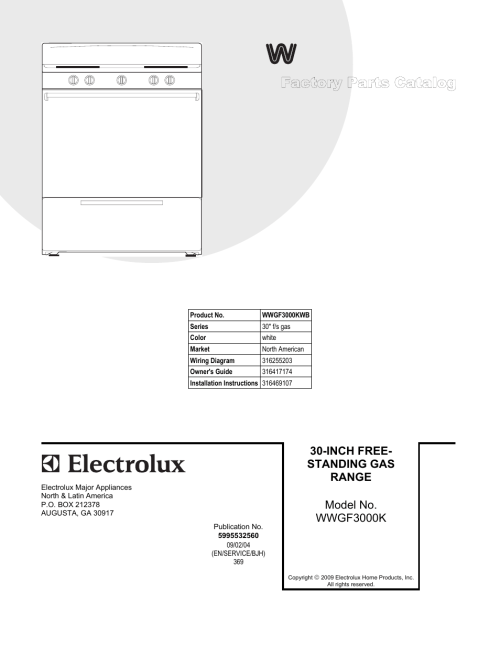 small resolution of electrolux white westinghouse wwgfkwb user manual pages