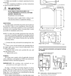 warning installation honeywell tradeline r845a user manual page 2 4 [ 954 x 1475 Pixel ]