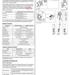 air index specifications tuneup specifications honda gxv390 user manual page 10 16 [ 954 x 1235 Pixel ]