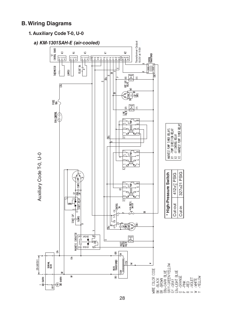 hight resolution of b wiring diagrams auxiliary code t 0 u 0 a km 1301sah