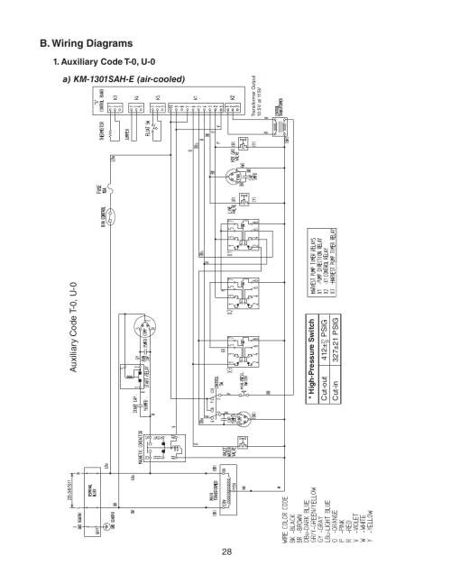 small resolution of b wiring diagrams auxiliary code t 0 u 0 a km 1301sah